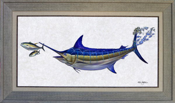 Acrylic Illustration - Blue Marlin