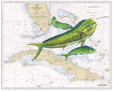 Chart Art - Straits of Florida Mahi