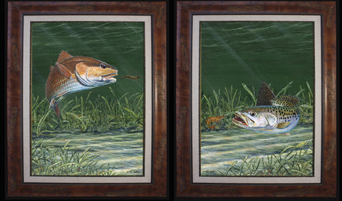 Fine Art - Grass Flat Redfish and Sea Trout