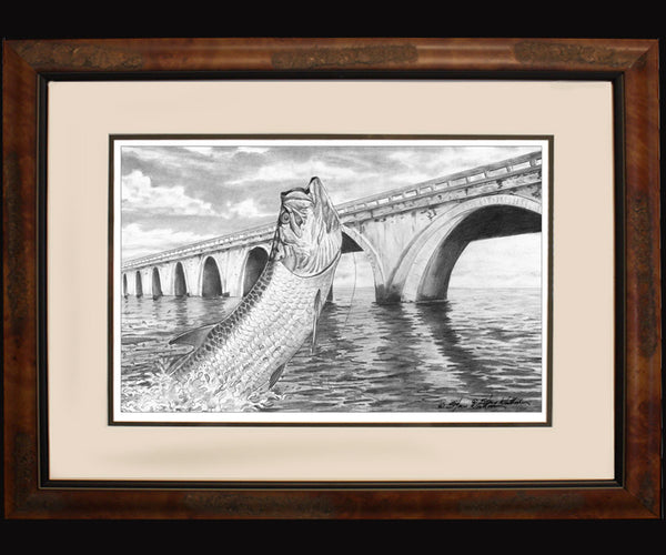 Pencil Art - Long Key Tarpon