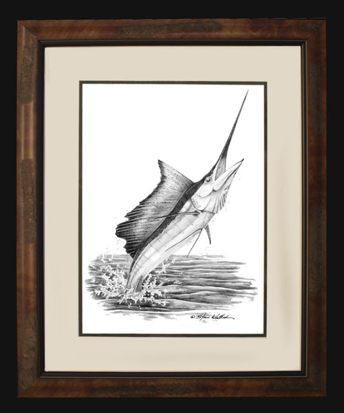 Pencil Art - Sailfish Vertical