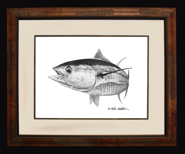 Pencil Art - Yellowfin Tuna