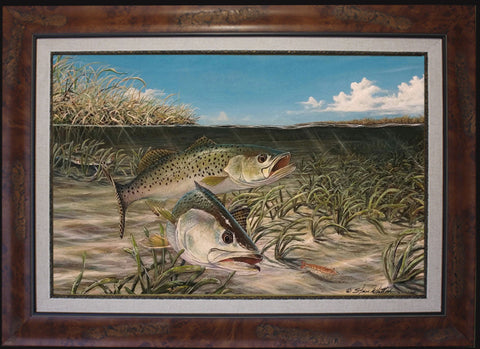 Fine Art - Shallow Water Specks (Sea Trout)