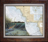 Cedar Key Redfish Chart Art