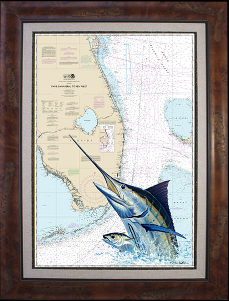 Chart Art - South Florida Marlin