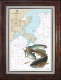Chart Art - Approaches to Mississippi River Inshore