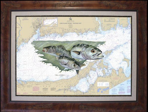 Long Island Sound Chart Art