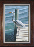 Fine Art - Blue Heron on Dock (BF L/E Only)