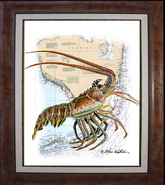 Chart Art - Lobzilla FL Spiny Lobster