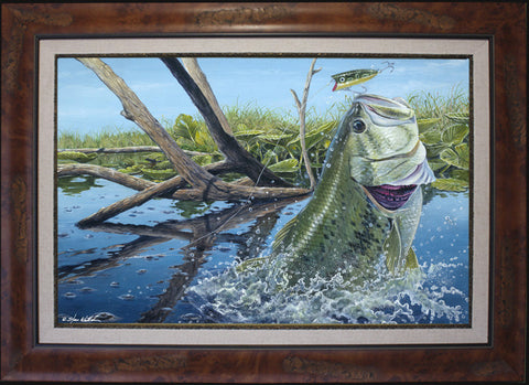 Fine Art - Lucky 13 Largemouth Bass (BF L/E O/E)