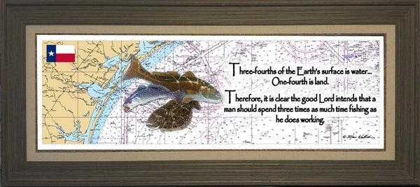 Inspiration Texas Inshore Chart Art