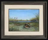 Fine Art - Up the Creek Redfish Redhead Ducks