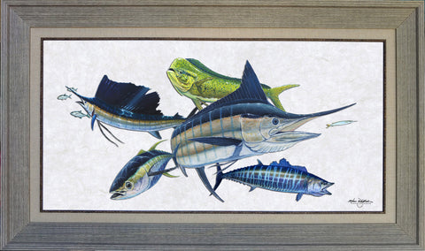 Acrylic Illustration - Offshore Slam