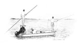 Pencil Art - Flats Boat (Skiff)