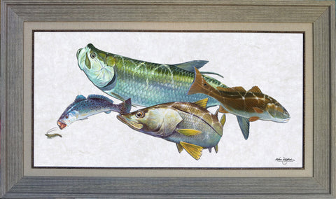 Acrylic Illustration - South FL Inshore Slam