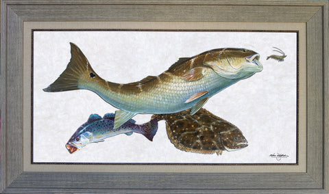 Acrylic Illustration - Coastal Inshore Slam