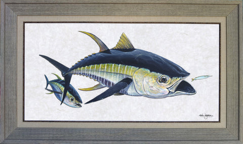 Acrylic Illustration - Yellowfin Tuna