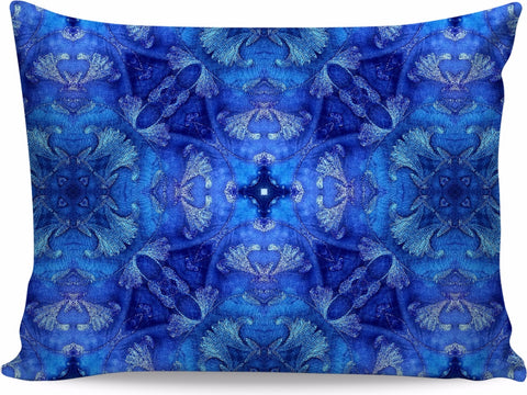 Blue Love Home Pillow by Organic Mandalas