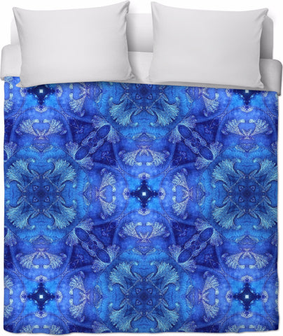 Blue Love Home - Bed Duvet by Organic Mandalas