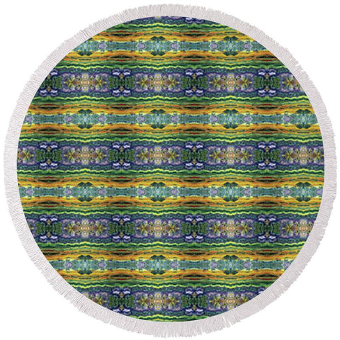 Earthly Purple One Home - Round Beach Towel