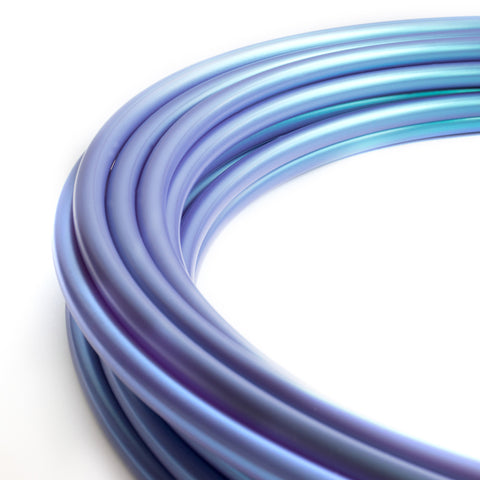 "3/4"" Metallic Color Shift Blue Purple, Polypro Hula Hoop"