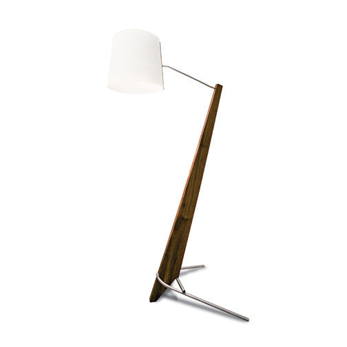 Silva Giant LED Floor Lamp - Dark Stained Walnut