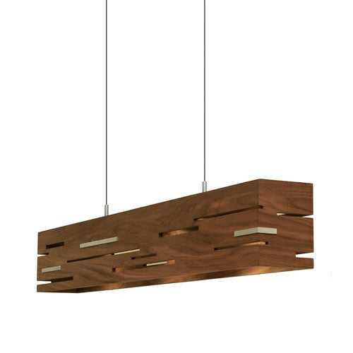 Aeris LED Linear Pendant - Walnut Finish