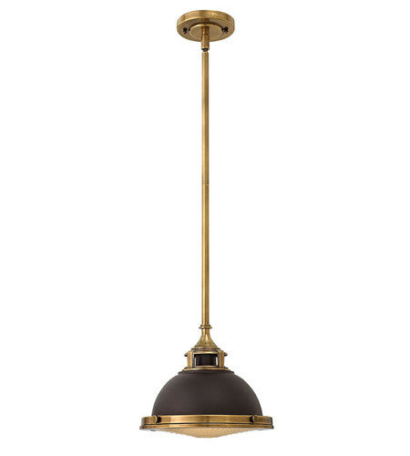 Amelia Pendant - Buckeye Bronze with Heritage Brass Accents