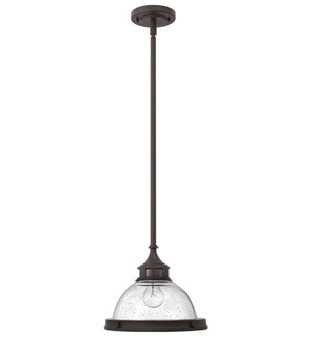 Amelia Pendant - Buckeye Bronze & Clear Seedy Glass