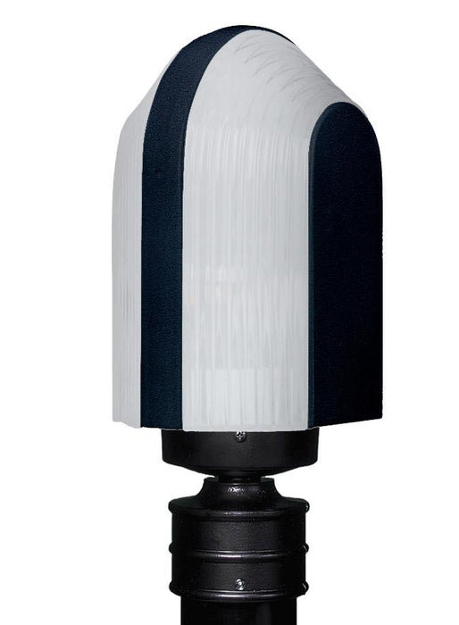 3139 Series Outdoor Post Light - Black Finish Frost Glass