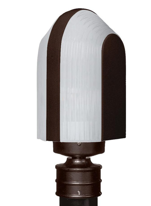 3139 Series Outdoor Post Light - Bronze Finish Frost Glass