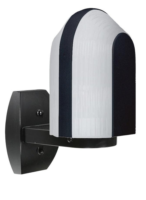 3139 Series Outdoor Wall Sconce - Black Finish Frost Glass