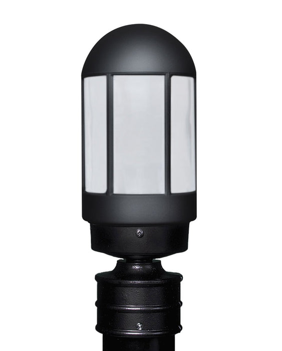 3151 Series Outdoor Post Light - Black Finish Frost Glass