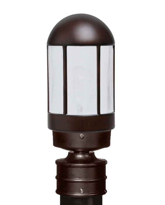 3151 Series Outdoor Post Light - Bronze Finish Frost Glass