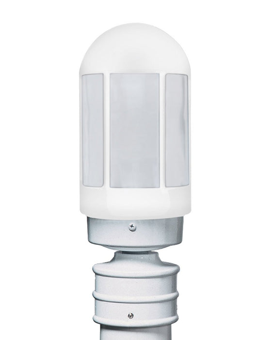 3151 Series Outdoor Post Light - White Finish Frost Glass