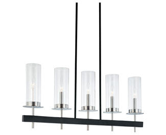 Tuxedo Linear Pendant - Polished Chrome/Black