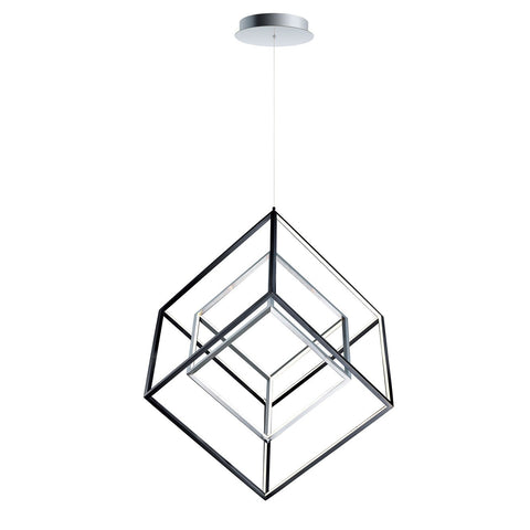 4 Square Double Pendant - Large