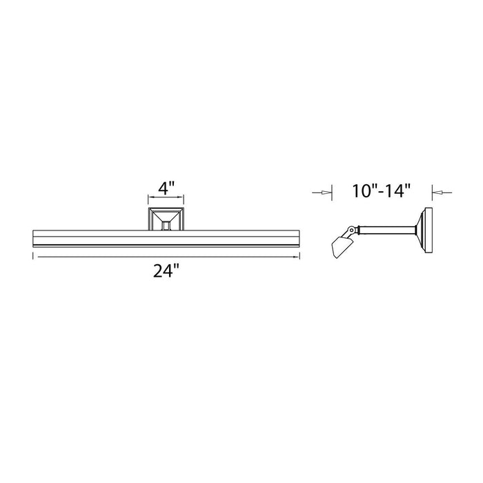 "Hemmingway 14"" Picture Light - Diagram"