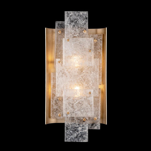 Lunea Large Wall Sconce - Gold Leaf Finish