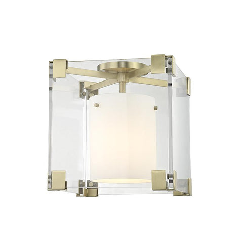 ACHILLES FLUSH MOUNT CEILING LIGHT Aged Brass