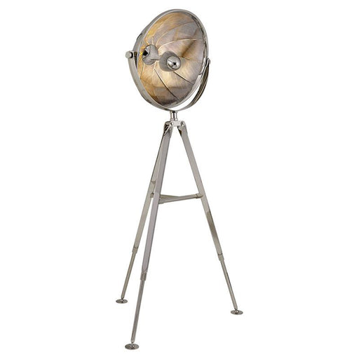Ames Extra Large Pivoting Reflector Floor Light - Polished Nickel Finish
