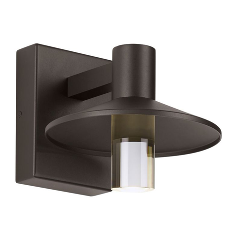 "Ash 8"" Outdoor Wall Sconce - Bronze Finish"