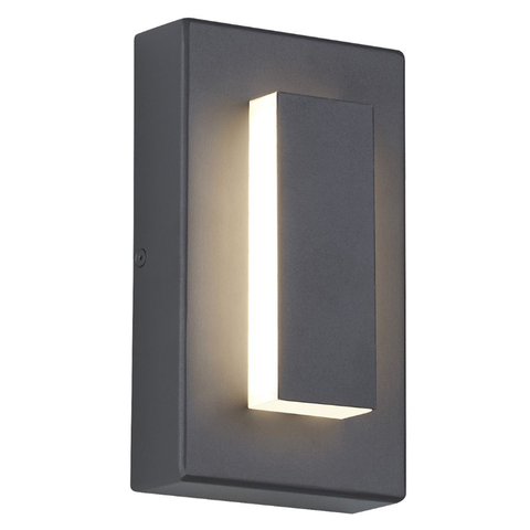 "Aspen 8"" Outdoor Wall Sconce - Charcoal Finish"