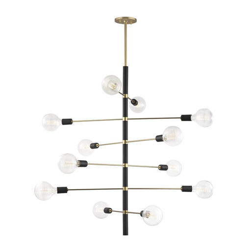 ASTRID Large CHANDELIER Aged Brass
