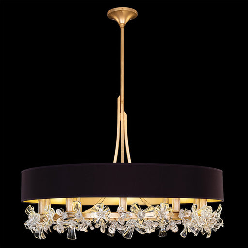 Azu Chandelier - Gold Leaf Finish Black Shade