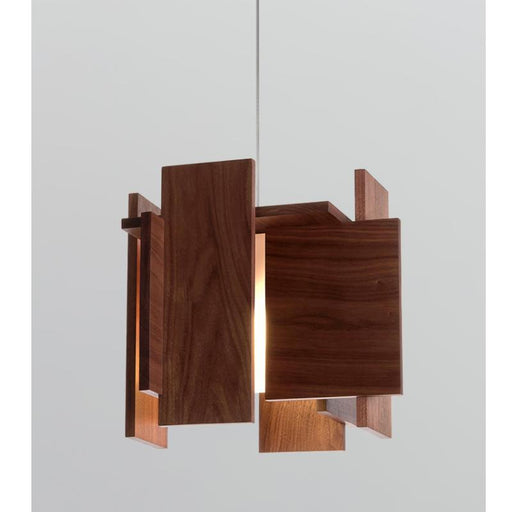 Abeo LED Pendant - Oiled Walnut Finish