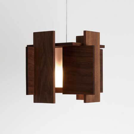 Abeo LED Pendant - Walnut Finish