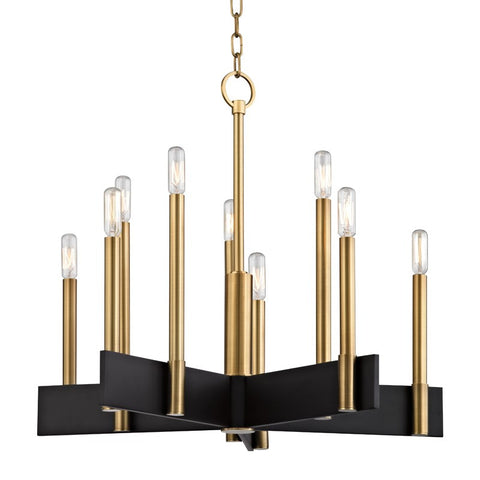 Abrams 10 Light Chandelier