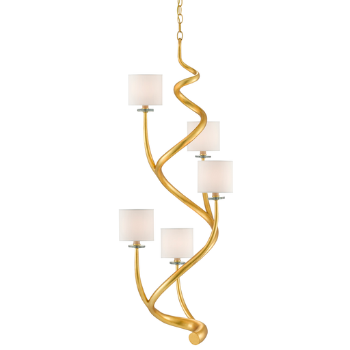 Absalom Chandelier - Gold Leaf Finish
