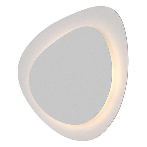 Abstract Panels Small 2-Plate LED Wall Sconce - Textured White
